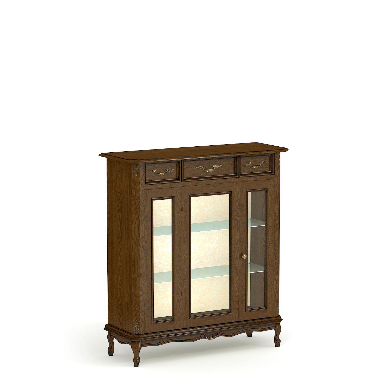Купить витрину из массива низкую одностворчатую № 3