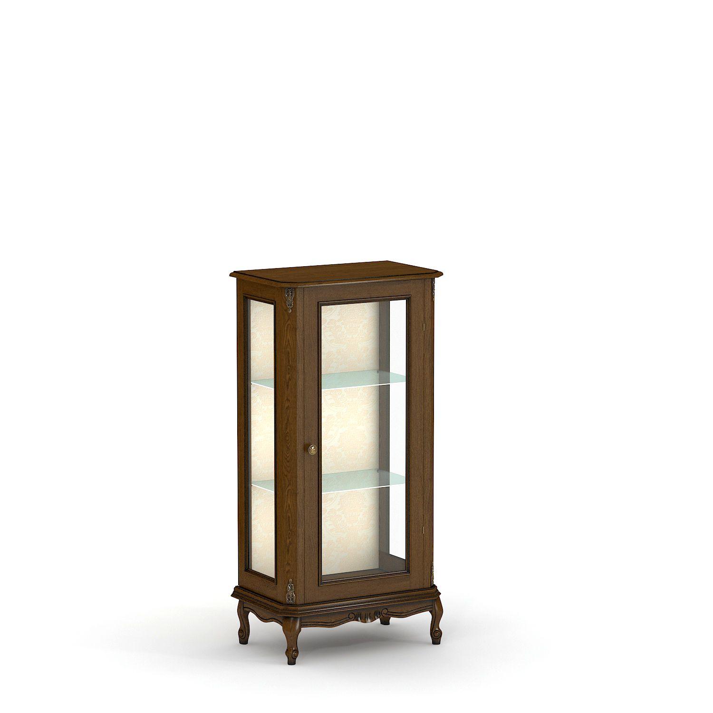 Купить витрину из массива низкую одностворчатую № 5