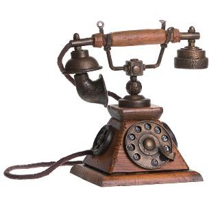 retro shkatulka telefon