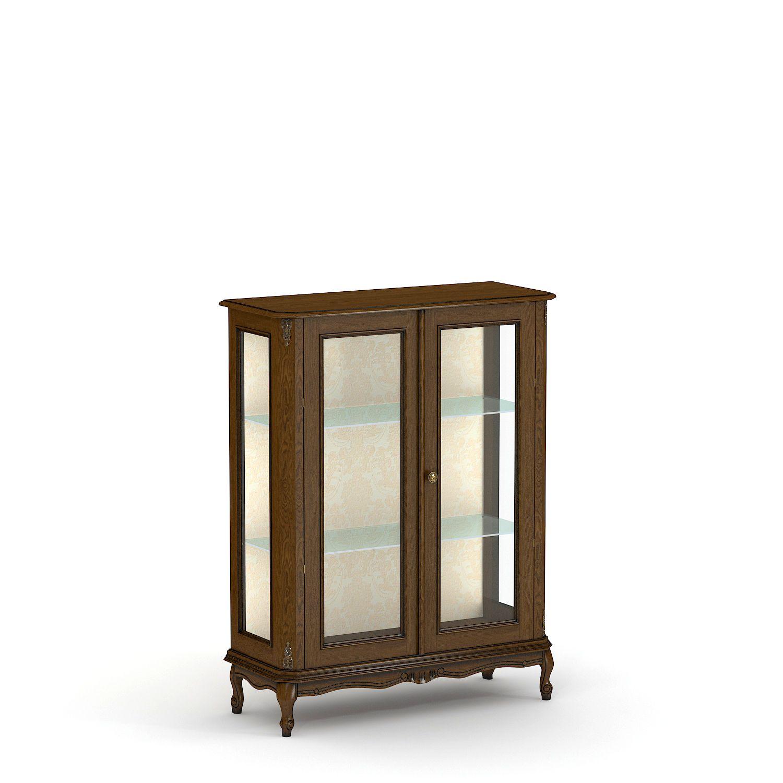 Купить витрину из массива низкую двустворчатую № 4
